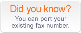Did you Know you can port your existing number?